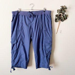 NWT Calvin Klein Drawstring Blue Capris Size 3X